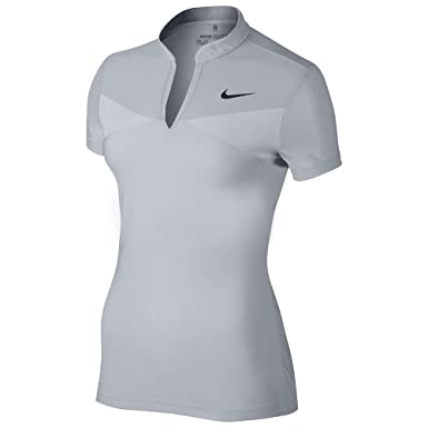Nike Znl Cl Swing Camiseta Polo de Manga Corta de Golf, Mujer ...