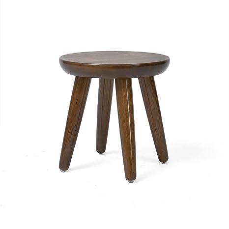 Amazon.com: Taburete de madera maciza estilo japonés ...