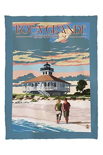 Boca Grande, Florida - Lighthouse 41862 (60x80 Poly Fleece Thick Plush Blanket)