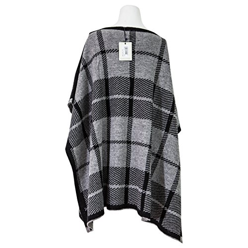 Grigio Donna Cape Wwacc1396 W's Ceck Woolrich Poncho Check XqwIgHxa