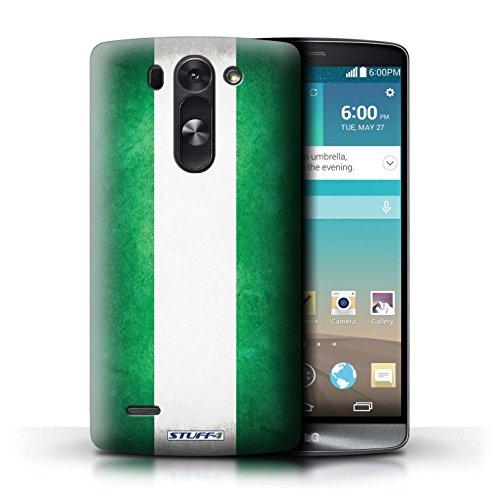 Kobalt® Imprimé Etui / Coque pour LG G3 S (Mini)/D722 / Nigeria conception / Série Drapeau