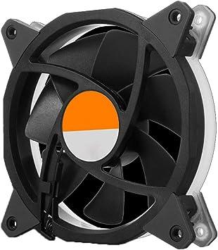 PLAIPH Ventilador de enfriamiento, Ventilador RGB 12 cm Control ...