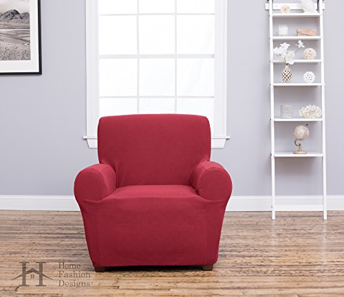 Home Fashion Designs Form Fit, Slip Resistant, Stylish Furniture Shield/Protector Featuring Plush, Heavyweight Fabric. Cambria Collection Deluxe Strapless Slipcover. By Brand.