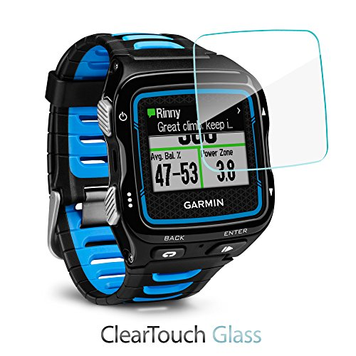 Garmin Forerunner 920XT Screen Protector, BoxWave [ClearTouch Glass] 9H Tempered Glass Screen Protection for Garmin Forerunner 920XT