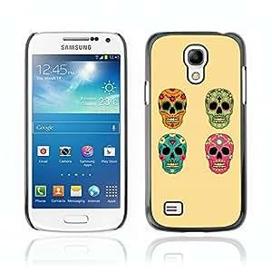 Carcasa Funda Case // V0000586 Vector Skull Floral Set// Samsung Galaxy S4 MINI i9190 i9192 i9195