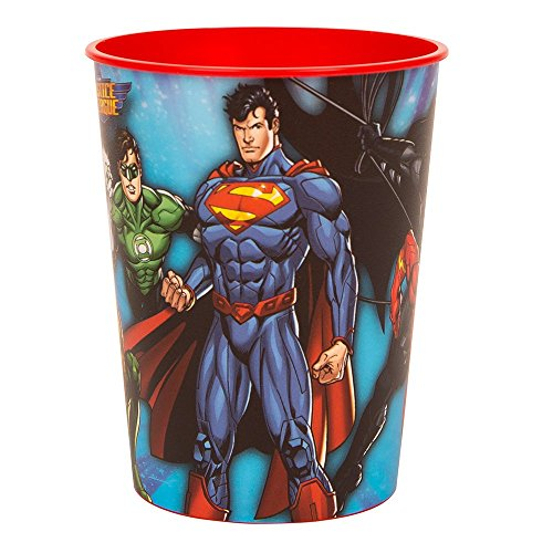 Unique 16oz Justice League Plastic Cups, 12ct