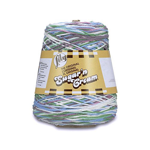 Lily Sugar'n Cream Cotton Cone Yarn, 14 oz, Freshly Pressed Ombre, 1 Cone