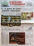 NOUVELLE REPUBLIQUE (LA) N? 18431 du 20-06-2005 F1 - LA GUERRE DES PNEUS DEGOMME INDIANAPOLIS - LES FORTES CHALEURS VONT CONTINUER - EDITORIAL - LE DOUBLE ECHEC PAR HERVE CANNET - FOOTBALL - LE TOURS FC RETROGRADE PAR LA DNCG - TOURS - LES ANTI-OGM A LA RENCONTRE DES CONSOMMATEURS - INDRE ET LOIRE - PLAN CANICULE LE RECENSEMENT A PETITS PAS - MONTBAZON - LES MECREANTS A L'ASSAUT DU DONJON - CANDIDE - BILLETS CHIC ET CHOC - SOMMAIRE - LE FAIT DU JOUR - FAITS DE SOCIETE - ARTS ET SPECTACLES - L...