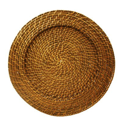 Harvest Rattan Charger Plate (Set of 4) (Rattan Plate)