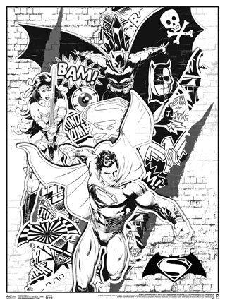 Batman v Superman Art Coloring Poster: Dawn of Justice ~ Batman ...