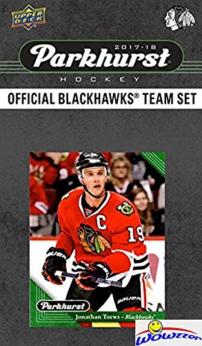 Chicago Blackhawks 2017/18 Upper Deck Parkhurst NHL Hockey EXCLUSIVE Limited Edition Factory Sealed 10 Card Team Set including Alex DeBrincat Rookie, Patrick Kane & All the Top Stars & RC's! (Blackhawks Hockey Team)