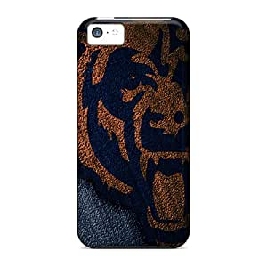 LauraKrasowski Scratch-free Phone Cases For Iphone 5c- Retail Packaging - Chicago Bears