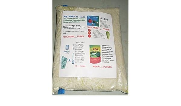 masterblend fertilizante 20 - 18 - 38 pre-Mix 5 lb hidropónica de nutrientes vegetales: Amazon.es: Jardín