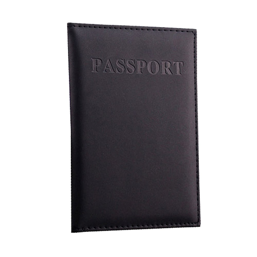 Ourhomer  Clearance Sale Wallet Dedicated Nice Travel Passport Case ID Card Cover Holder Protector Organizer (Black)