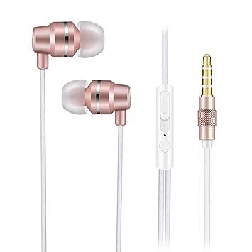 Zagzog Auriculares In-Ear con Microfono, Auriculares Cable, Cancelación de Ruido Auriculares Sonido Dinámico de Crystal Clear, Ergonómico Cómodo, ...