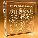 BOSS Gifts For Men | Office | Leader | Christmas | Desk | Birthday | Male | World's Best Boss | Paperweight | Keepsake