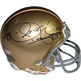 NCAA Notre Dame Fighting Irish Rocket Ismail Signed mini Helmet