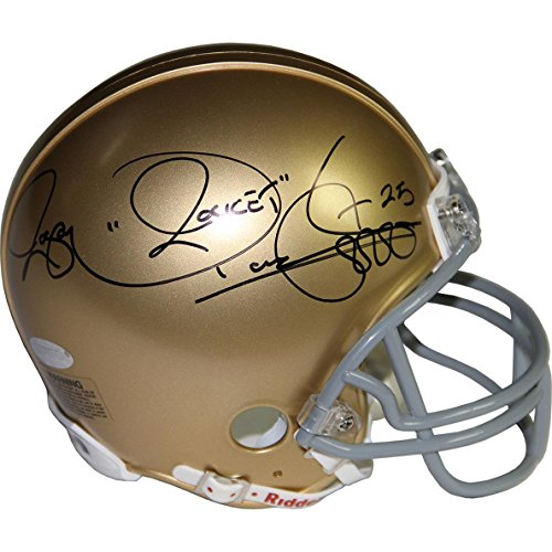 NCAA Notre Dame Fighting Irish Rocket Ismail Signed mini Helmet by Steiner Sports