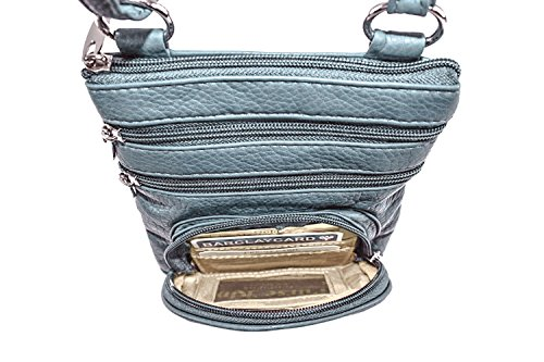 Slate RFID Organizer Bag Body Duchess Mini Purse King protected Cross Green qxHPCqaw