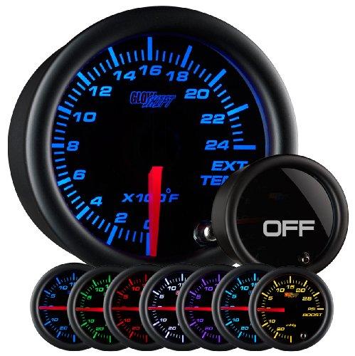 Exhaust Temperature Egt Gauge - GlowShift Tinted 7 Color 2400 F Exhaust Gas Temperature Gauge