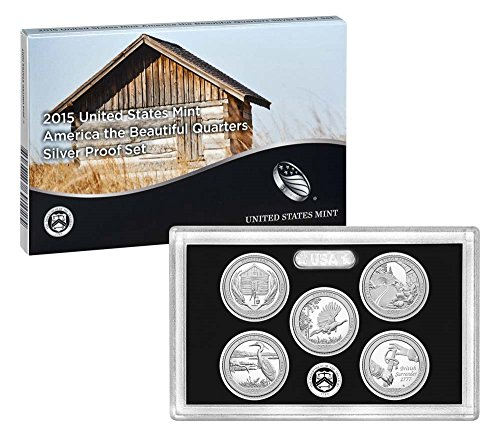 2015 United States Mint America the Beautiful Quarters Silver Proof Set™ (Q5H) OGP
