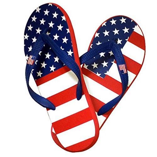 Theflagshirt Womens American Flag Flip Flops