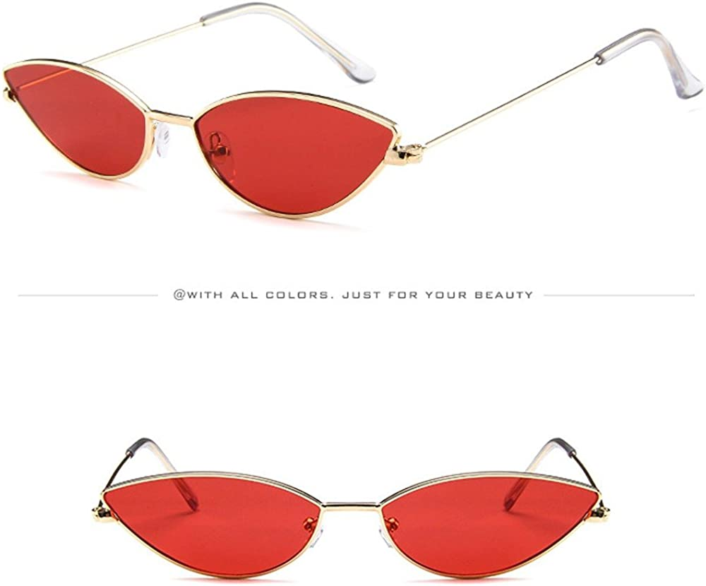 Longra Occhiali da sole Vintage Da Donna Cat Eye Eyewear Retro Sunglass Female UV400 Occhiali Da Sole Occhiali Da Sole Rotondi Retro Uomo e Donna Protezione UV400 Sunglasses