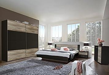 QUELLE Schlafzimmer »Franziska« (4-tlg.), braun, 180/200 cm ...