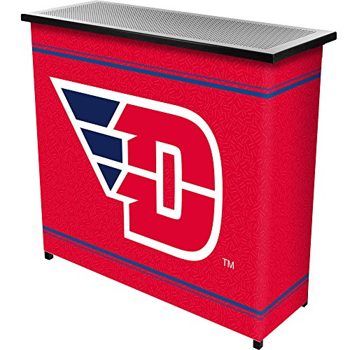 NCAA University of Dayton Two Shelf Portable Bar with Case by Trademark Gameroom
