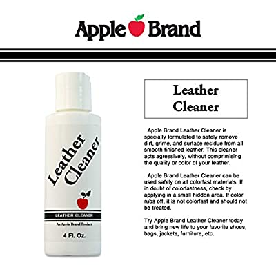 Apple Brand Leather Cleaner 4 oz | Great for Shoes, Boots, Handbags, Car Upholstery, Furniture- Removes Surface Dirt, Grime, Salt and More From Finished Leathers: Automotive