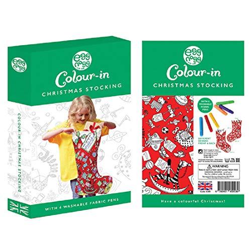[해외]EggNogg Colour in Fabric Christmas Advent Stocking ~ Colour in Each Day / EggNogg Colour in Fabric Christmas Advent Stocking ~ Colour in Each Day