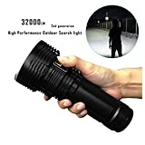 Inkach LED Tactical Flashlights, 32000 Lumens Brightest Water Resistant Handheld Flashlight Light (Black)