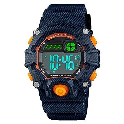 Venhoo Kids Digital Watches Outdoor Sport Waterproof Electronic LED Alarm Stopwatch Wrist Watch for Kids Boys Girls from Venhoo