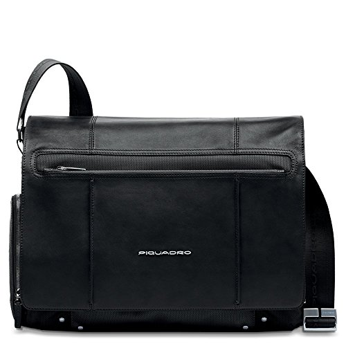 Piquadro Computer Messenger with iPad Compartment, Black, One Size by Piquadro