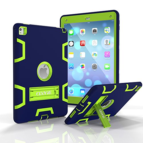 Shockproof Heavy Duty Armor Case for Apple iPad Air 2 (Green) - 7