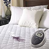 Heated Mattress Pad. Best Comfort Hypoallergenic Waterproof Topper Pillow For Deep Healthy Sleep. Firm Protection Cover, Protects Bed From Stains, Dirt, Dust & Wetness. w/ 20 Settings & Timer (Twin)