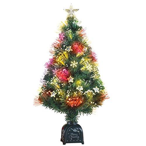 Rotating Fiber Optic Tabletop Christmas Tree, 36