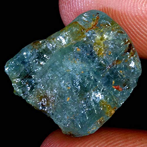 GEMSCREATIONS 19.50Cts.Unheated AAA Quality Natural Gorgeous Aquamarine Rough Minerals