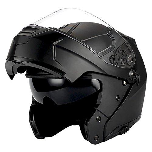 1Storm Motorcycle Modular Full Face Helmet Flip up Dual Visor/Sun Shield Matt - Visor Dual Helmet
