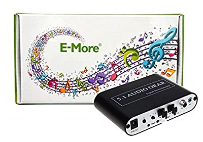 E-More® New 5.1 Audio Gear Digital Sound Decoder Converter - Optical SPDIF/ Coaxial Dolby AC3 DTS to 5.1CH Analog Audio