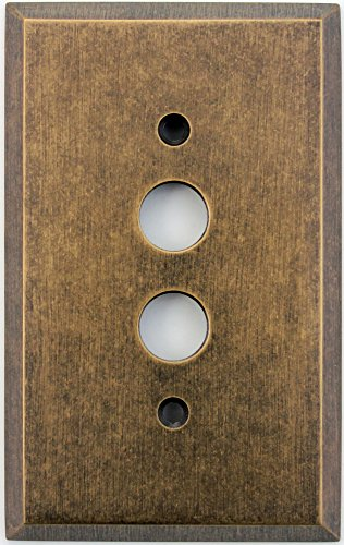 Classic Accents Aged Antique Brass 1 Gang Push Button Light Switch Wall Plate