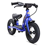 Bikestar Original Safety Lightweight Kids First Running Balance Bike with brakes and with air tires for Kids age 2 year old boys and girls  10 Inch Classic Edition  Adventurous Blue