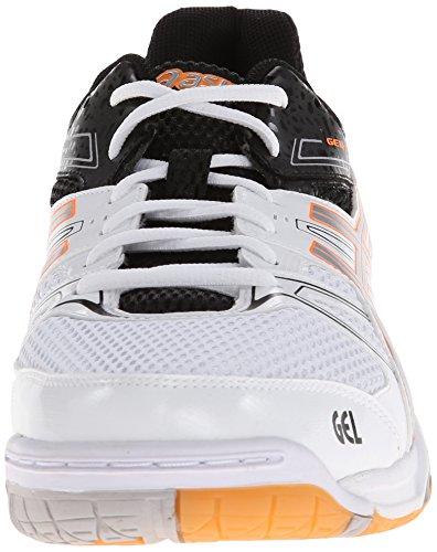 Asics Gel Rocket 7 Fibra sintética Zapato de Tenis White/Silver/Black