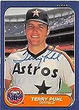 Autograph 122962 Houston Astros 1986 Fleer No. 308 Terry Puhl Autographed Baseball Card