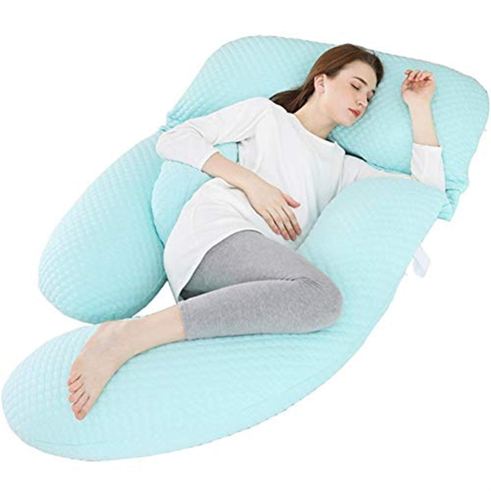 マタニティ枕妊娠中の女性のためのU字型ボディピロー 全身妊娠枕。取り替えおよび洗えるカバーが付いているマタニティ枕(175 * 80 * 20cm) B07SMGP3PW