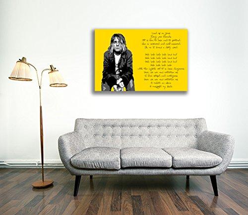 Lienzo cultura - Kurt Cobain Nirvana lienzo enmarcado de 2 ...