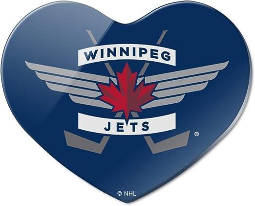Amazon Com Nhl Winnipeg Jets Logo Heart Acrylic Fridge Refrigerator Magnet Kitchen Dining