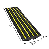Scinotec Rubber Curb Ramps Car Kerb Ramp 2.5 Inch