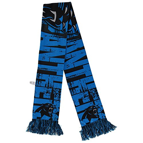 Forever Collectibles NFL Carolina Panthers Printed Big Logo Scarf -