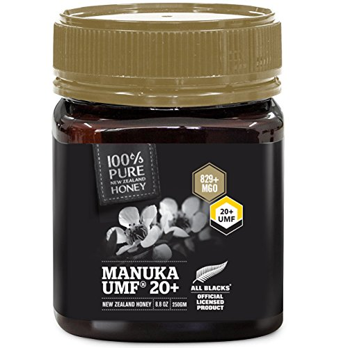 Pure New Zealand Manuka Honey - UMF 20+ Certified - 8.8 oz- All Blacks Official Licensed Honey by Mercier Kitchen (Image #2)